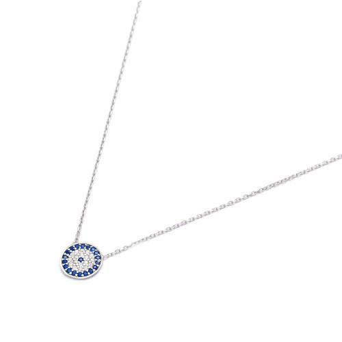 Crystal Evil Eye pendant on chain - Lost Lover - 1