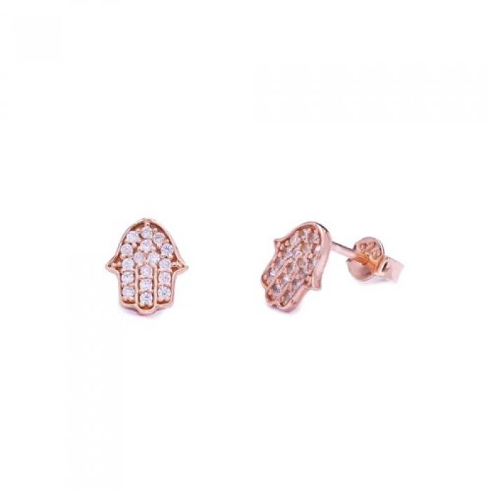 Crystal Hamsa Stud Earrings - Earrings - Bohemian Jewellery and Homewares - Lost Lover