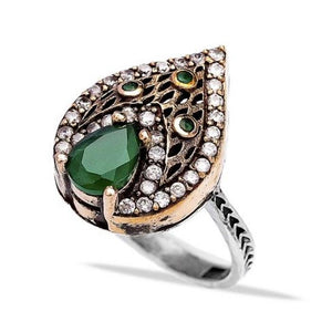 Emerald Elixir Ring - Ring - Bohemian Jewellery and Homewares - Lost Lover
