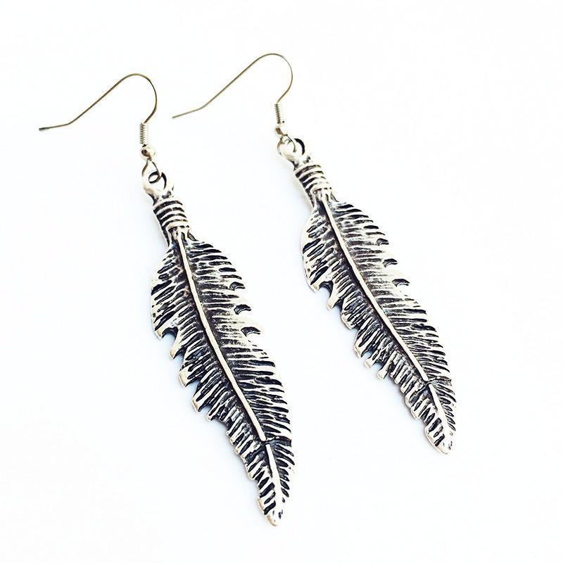 "Anatolian Earrings - ""Feather"" - Lost Lover - 1"