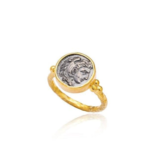 Gold Roman Medallion Ring