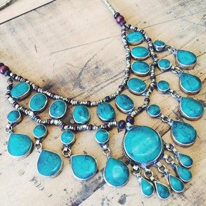 Tribal Green Stone Necklace - Necklace - Lost Lover