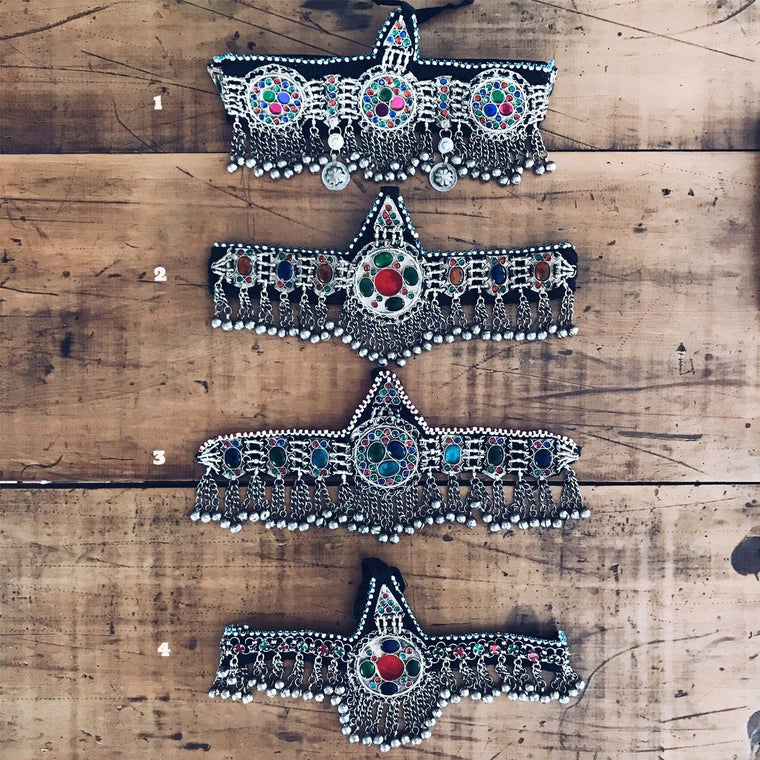 Afghan Kuchi headpieces - selection