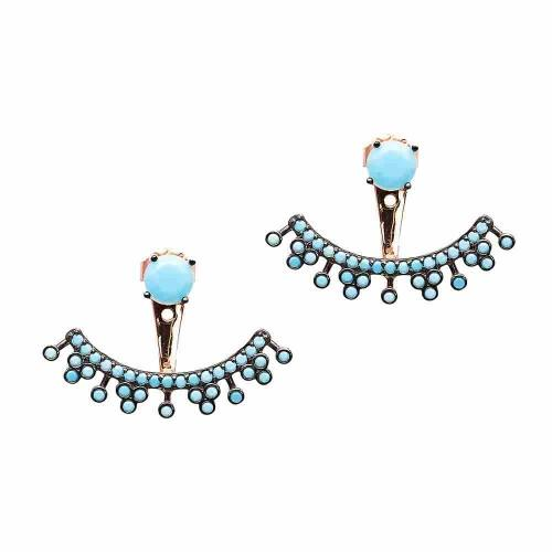 Iridescent Floating Earrings - Turquoise - Lost Lover - 1