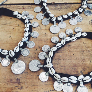 Kuchi cowrie and coins choker - Necklace - Bohemian Jewellery and Homewares - Lost Lover