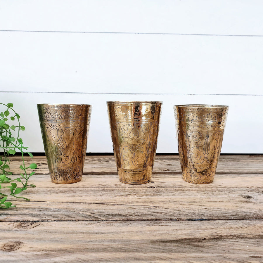 Bundle Deal 3 - Vintage Lassi Cups - Medium Set of 3