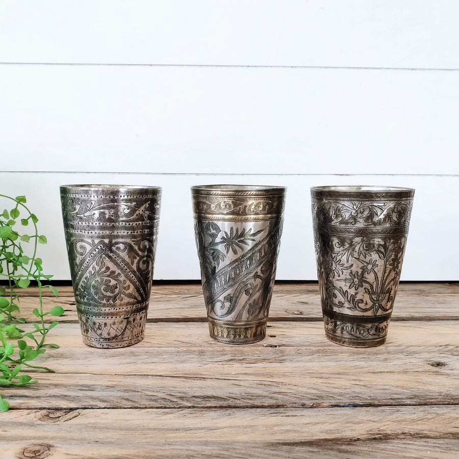 Bundle Deal 5 - Vintage Lassi Cups - Medium Set of 3