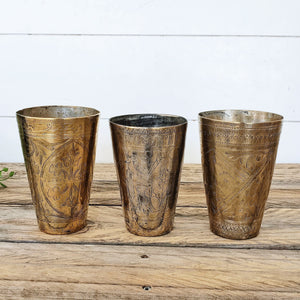 Bundle Deal 7 - Vintage Lassi Cups - Medium Set of 3.
