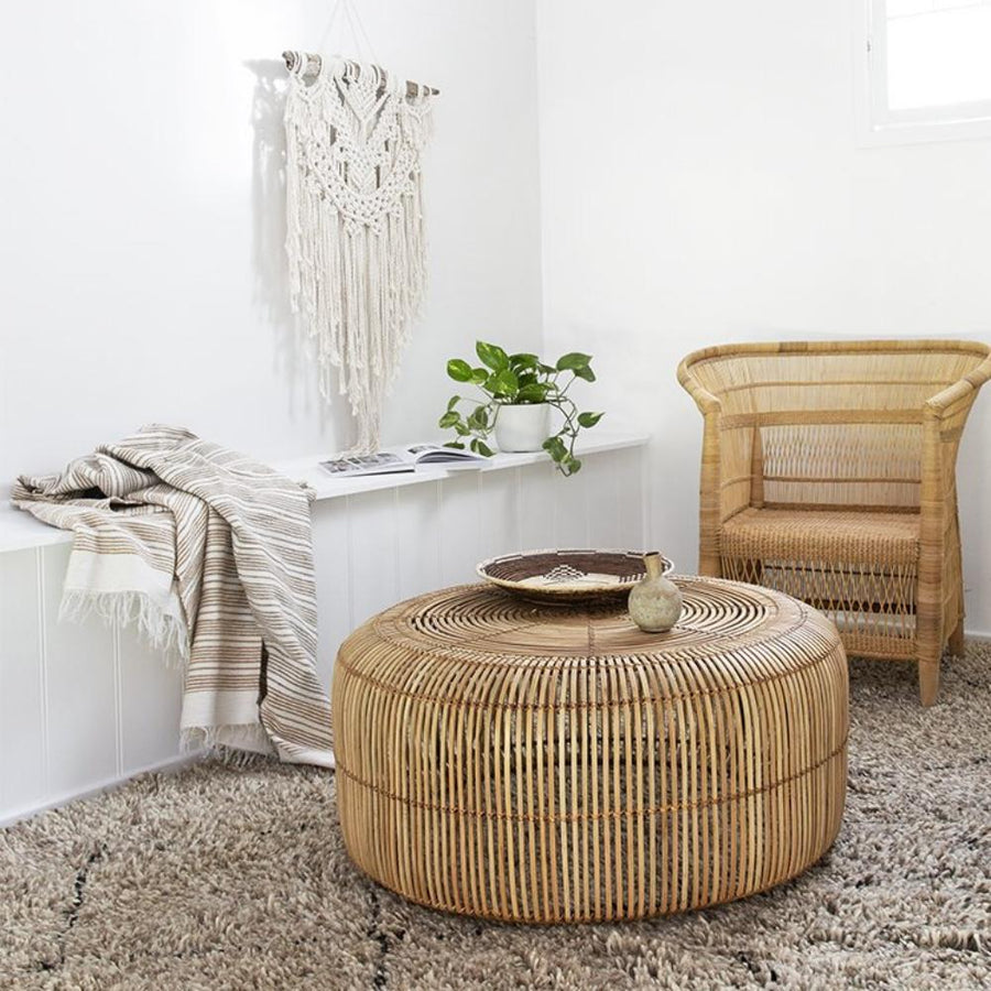 Moroccan Throw - Natural