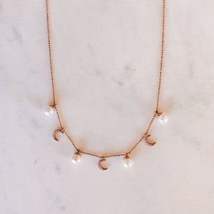 Moonlight Necklace - Rose Gold