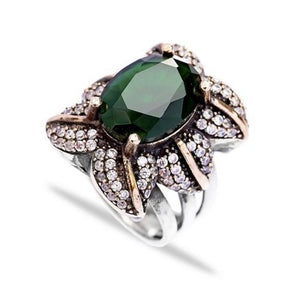 Ottoman Emerald Ring - Ring - Bohemian Jewellery and Homewares - Lost Lover