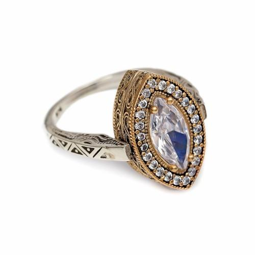 Elegance in Motion Reversible Ring - Sapphire/Cubic Zirconia - Lost Lover - 1
