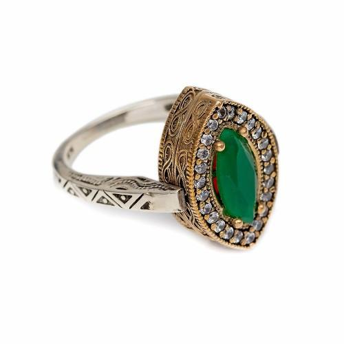 Elegance in Motion Reversible Ring - Emerald/Ruby - Lost Lover - 1