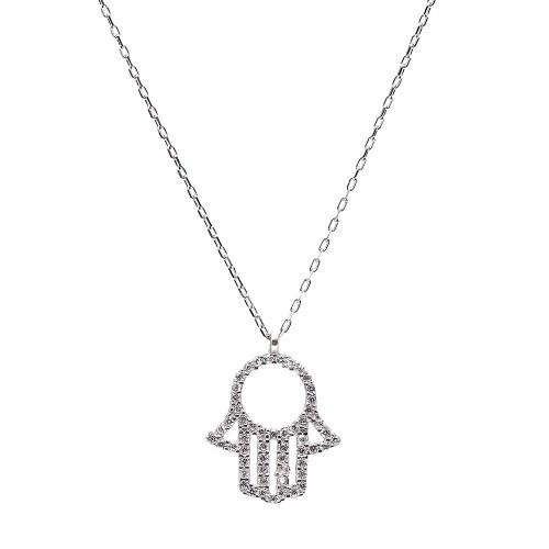 Silver Hamsa pendant on chain - Lost Lover - 1