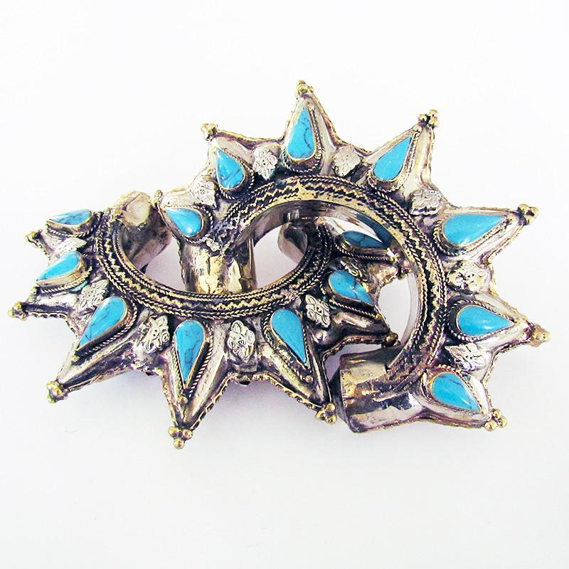 Vintage Kuchi spike cuff - turquoise - Lost Lover - 1