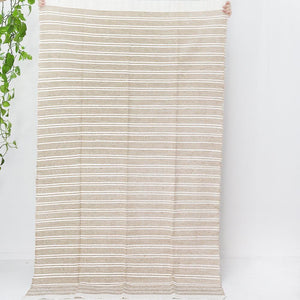 Moroccan Throw - Natural - Throw - Bohemian Jewellery and Homewares - Lost Lover