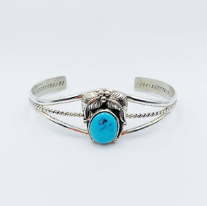 Turquoise Bloom Navajo Cuff - Bracelet - Bohemian Jewellery and Homewares - Lost Lover