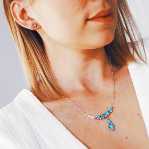 Turquoise Droplets Navajo Necklace