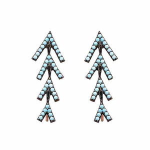 Turquoise Arrow Ear Cuff - Earrings - Lost Lover
