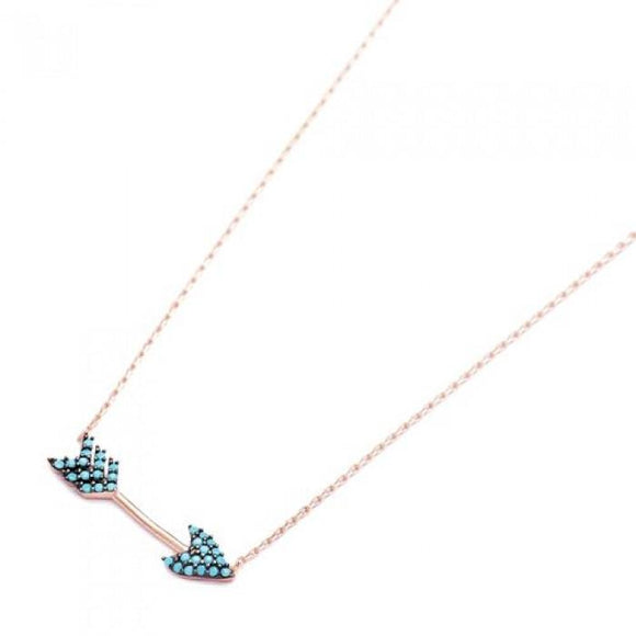 Turquoise Arrow pendant on chain