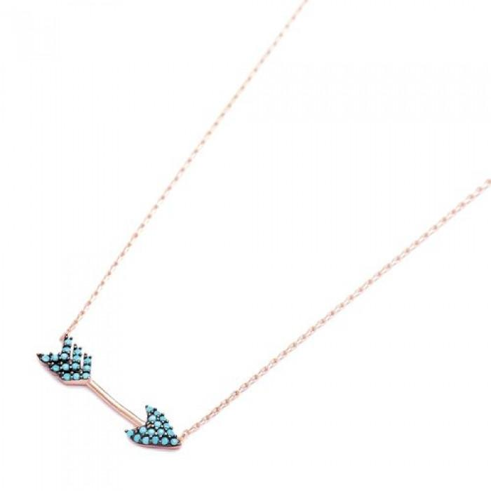 Turquoise Arrow Pendant On Chain - Necklace - Lost Lover