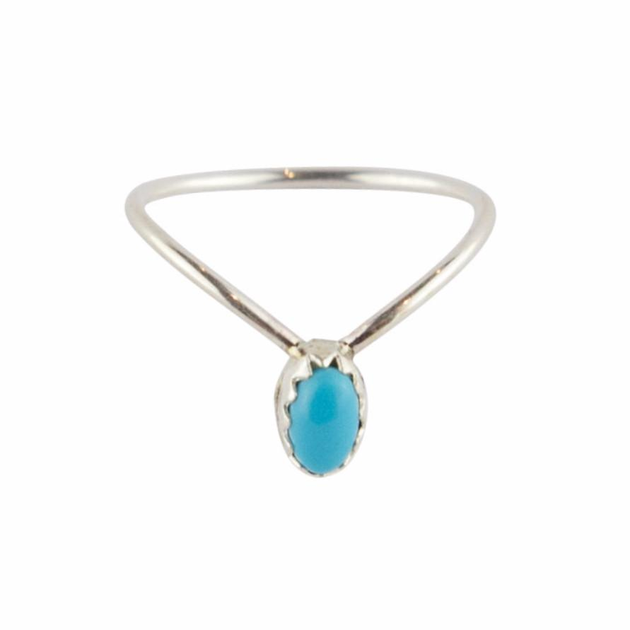 Turquoise Droplet Navajo Ring - Ring - Lost Lover