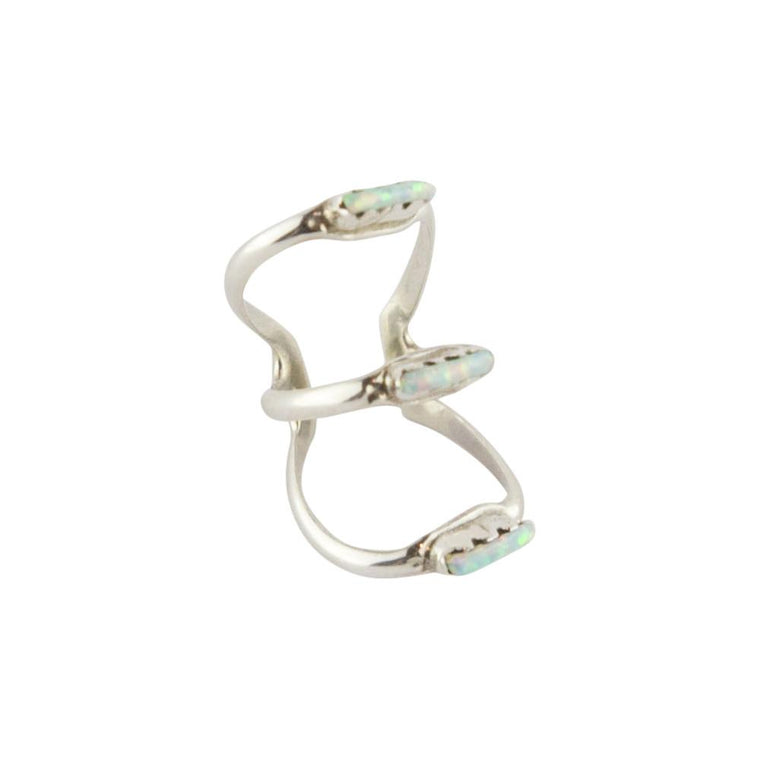 Vertigo Zuni Ear Cuff - White Opal - Lost Lover - 1