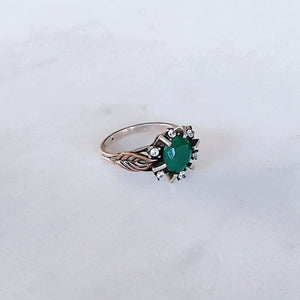Vintage Ottoman Ring - Emerald