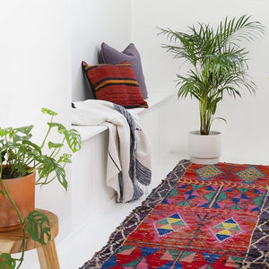 Moroccan Throw - Azure - Throw - Bohemian Jewellery and Homewares - Lost Lover