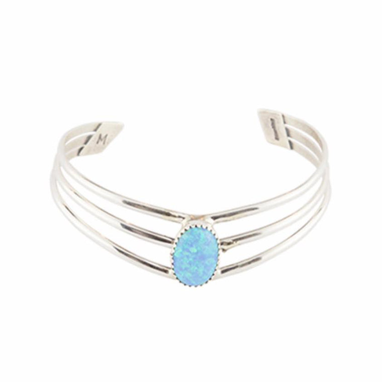 Wild River Navajo Cuff - Blue Opal - Lost Lover - 1
