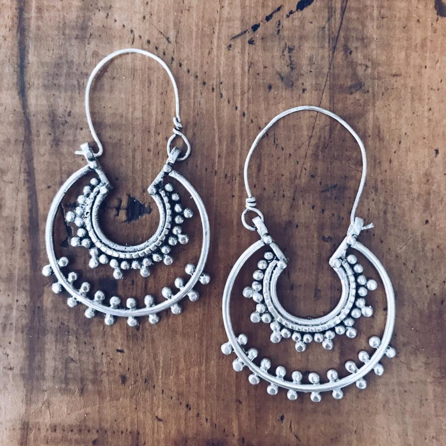 Double circle tribal hoop earrings - Earrings - Bohemian Jewellery and Homewares - Lost Lover