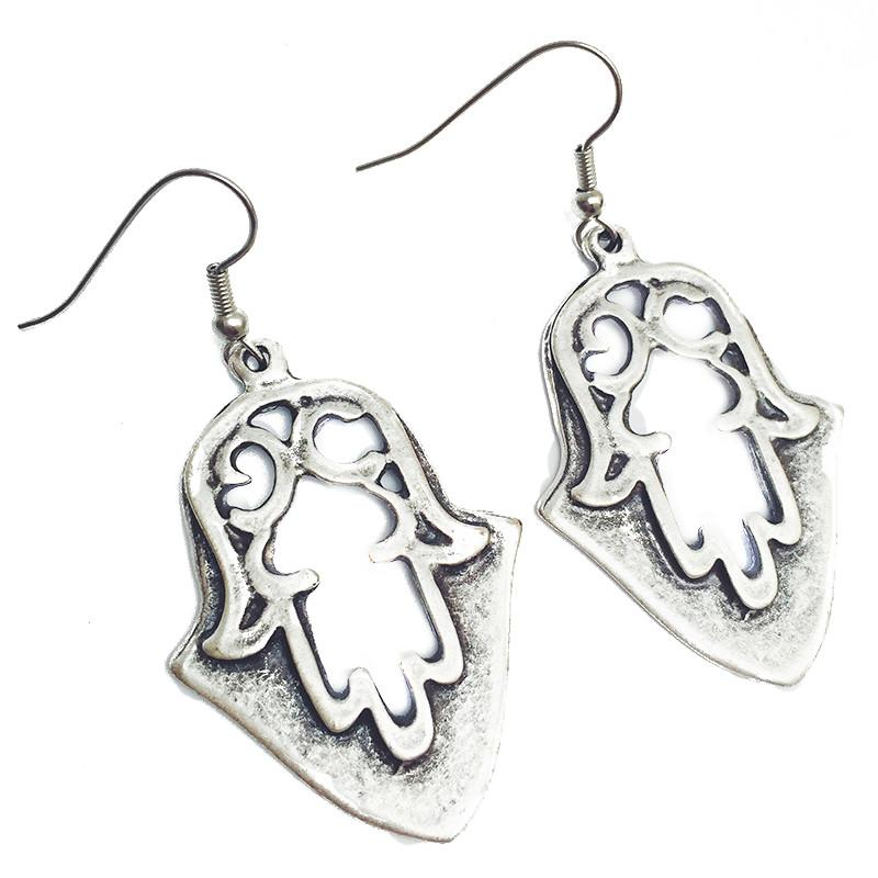 Anatolian Earrings - Hamsa Shield - Ring - Lost Lover
