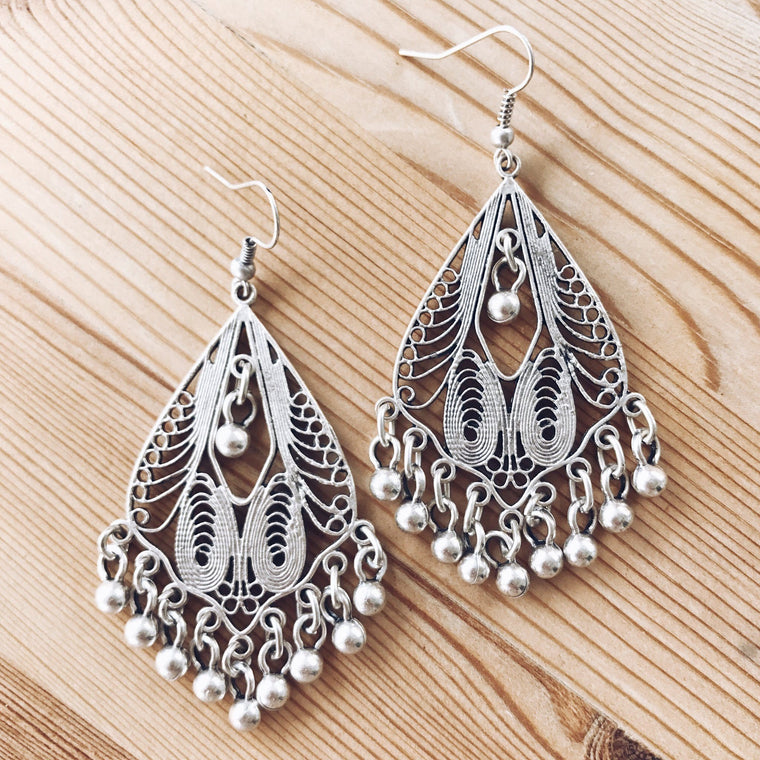 "Anatolian Earrings - ""Labyrinth"""