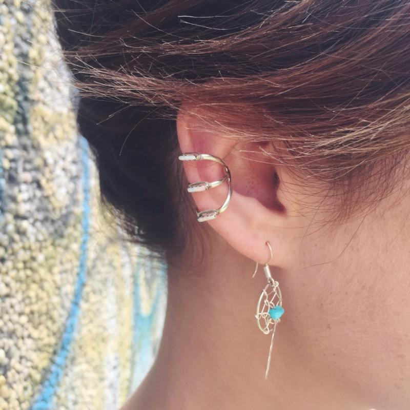 Vertigo Zuni Ear Cuff - White Opal - Earrings - Lost Lover