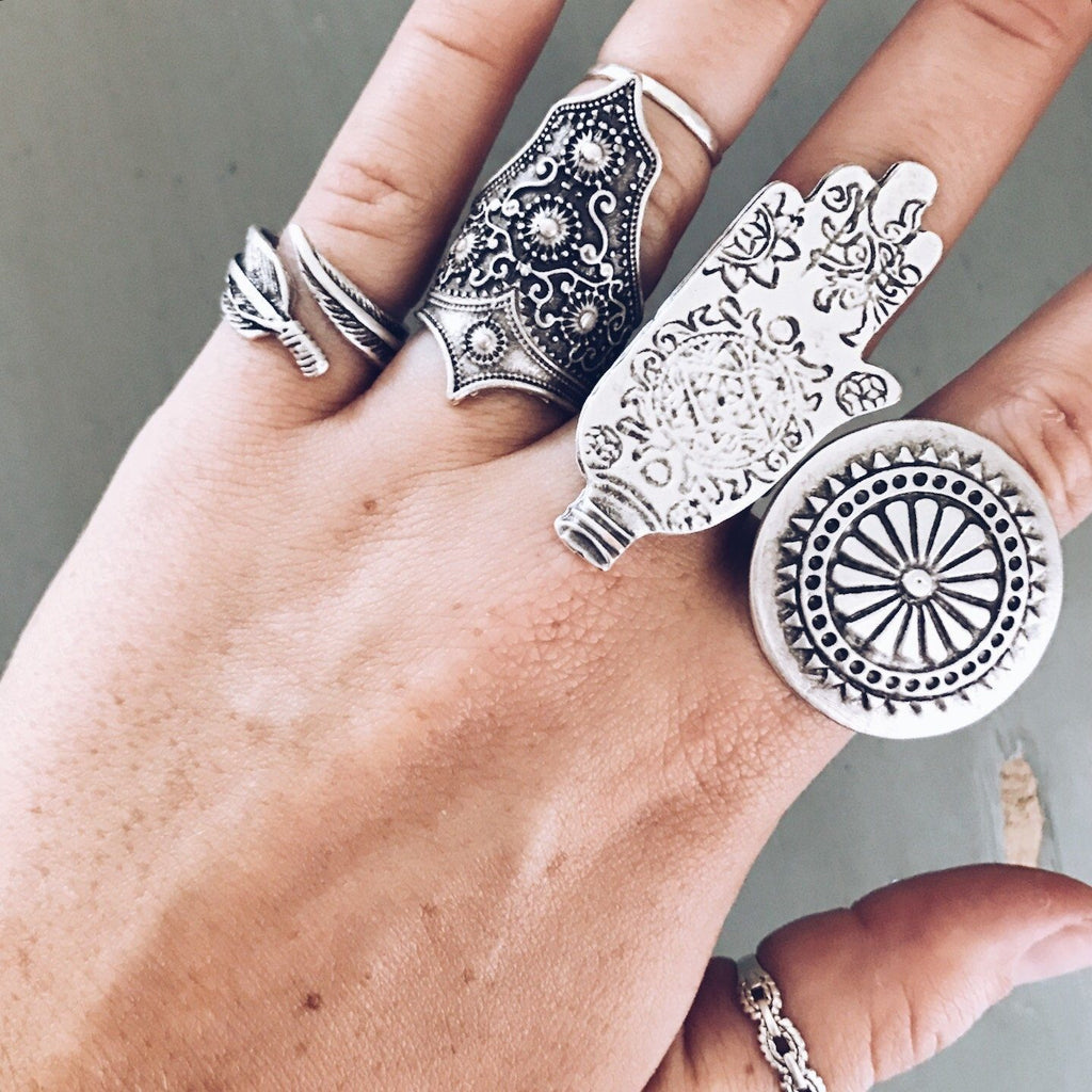 "Anatolian Ring - ""Ornate Hamsa"""