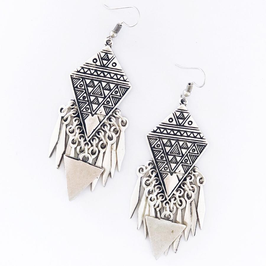 "Anatolian Earrings - ""Aztec"" - Earrings - Bohemian Jewellery and Homewares - Lost Lover"