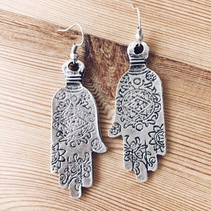 "Anatolian Earrings - ""Ornate Hamsa"" - Ring - Bohemian Jewellery and Homewares - Lost Lover"