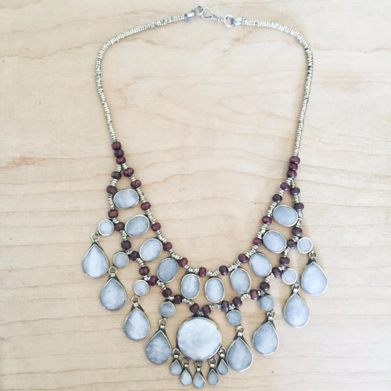 Tribal grey stone necklace - Lost Lover - 5