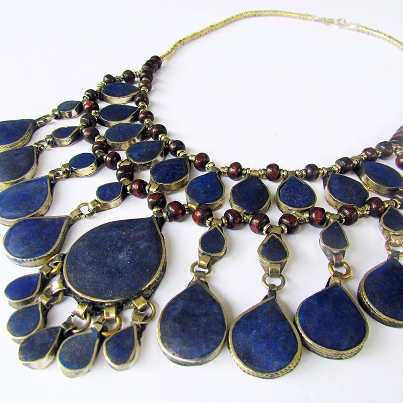 Tribal lapis lazuli necklace - Lost Lover - 4