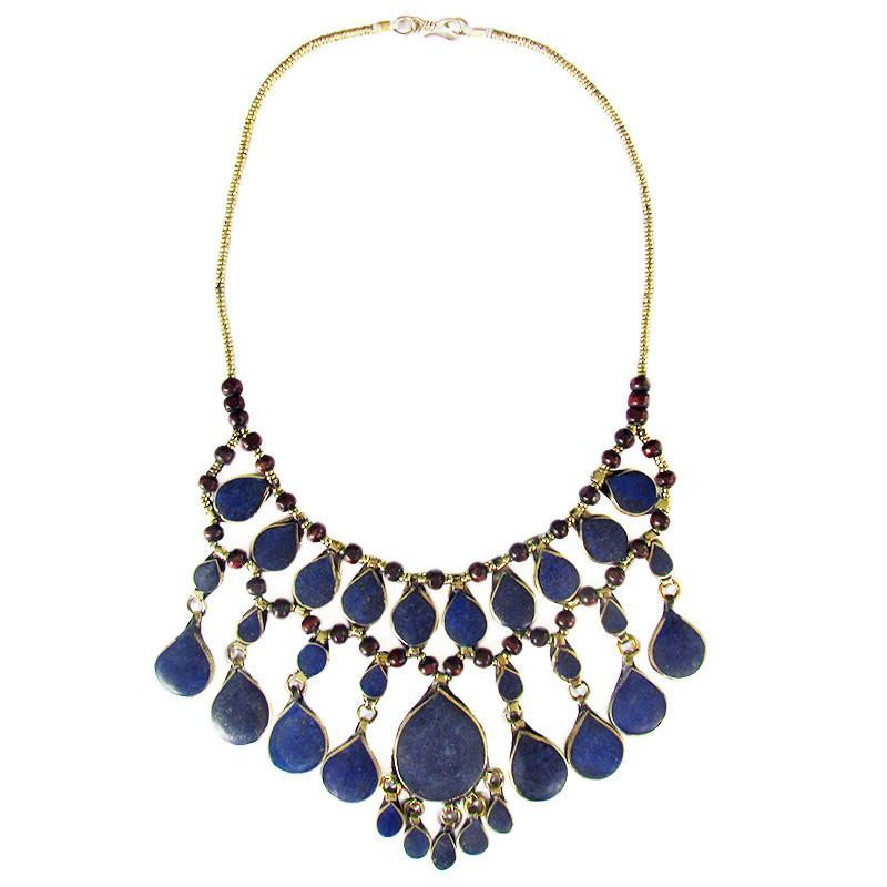 Tribal lapis lazuli necklace - Lost Lover - 3