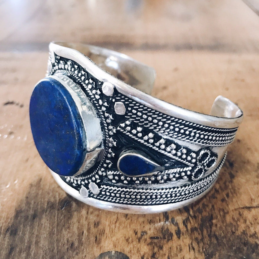 Lapis lazuli tribal cuff - Small - Bracelet - Bohemian Jewellery and Homewares - Lost Lover