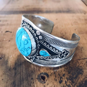 Turquoise Tribal Cuff - Small - Bracelet - Lost Lover