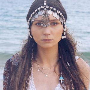 Cowrie & Coins Headpiece - Headpiece - Bohemian Jewellery and Homewares - Lost Lover