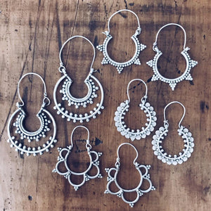 Spike Tribal Hoop Earrings - Earrings - Lost Lover