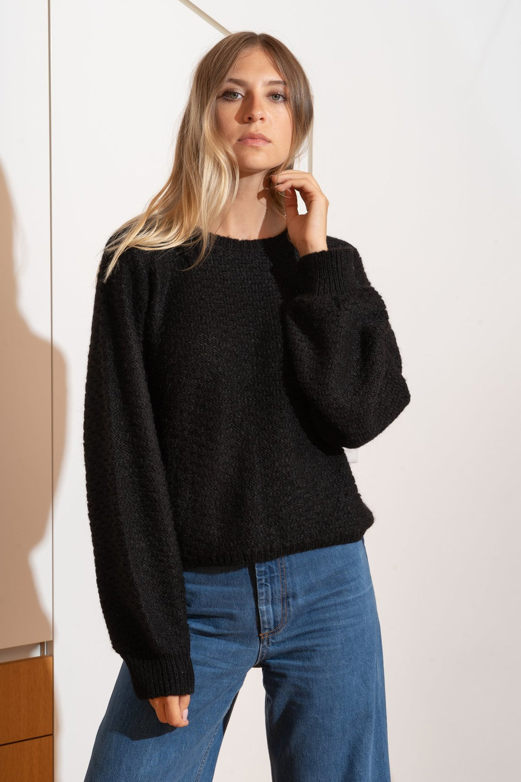 Carolyn Sweater in Black - SHOPNECESSARY6.0
