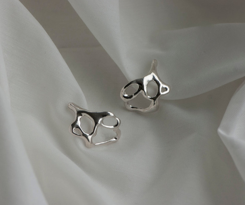 The Resonance Sterling Silver Earring - SHOPNECESSARY6.0