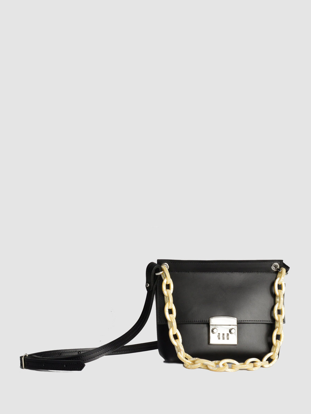 Victoria - Oiled Black - Acetate Chain Pearl - SHOPNECESSARY6.0