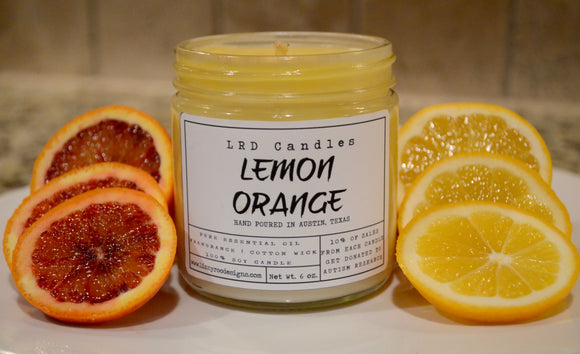 Lemon Orange Essential Oil Soy Candle