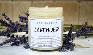 Lavender Essential Oil Soy Candle