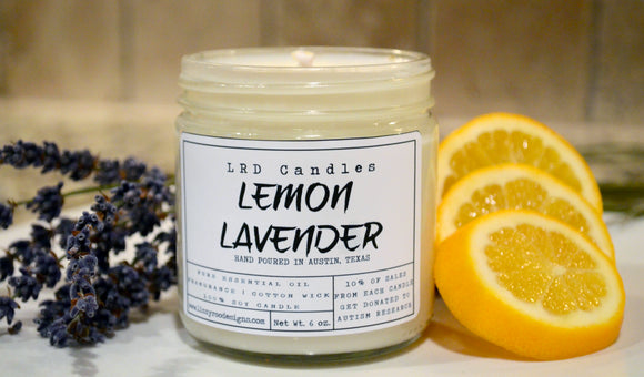 Lemon Lavender Essential Oil Soy Candle